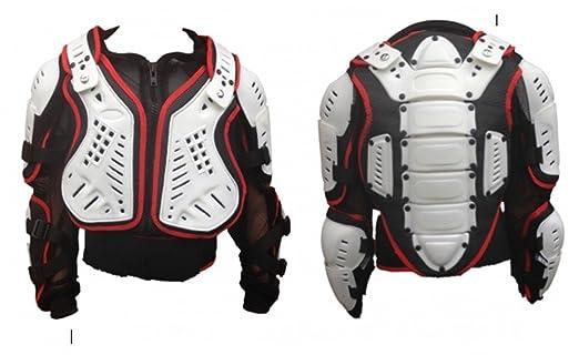 childs Blanc Rouge Noir de protection moto armure