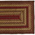 IHF Home Decor Cinnamon Design Braided Recatangular Rugs Jute Fabric Wine with Sage and Tan Color
