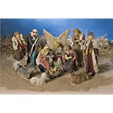 Crèche de Noël grands personnages de 44 cm
