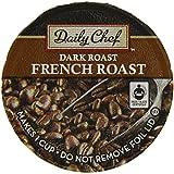 Daily Chef 100% Arabica Coffee French Roast, Dark Roast, 80 Count