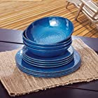 Melamine Dinnerware 12PC Set (Blue)
