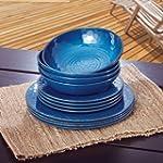 Melamine Dinnerware 12PC Set (Blue)
