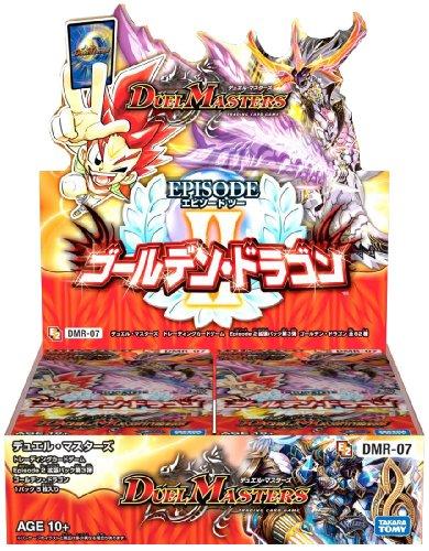 デュエル・マスターズ DMR-07 エピソード2 拡張パック第3弾 ゴールデン・ドラゴン DSP-BOX 特典 「鬼アツ! キラッキラ黄金パック!!Vol.2(カード1枚入り)」×5パック付き