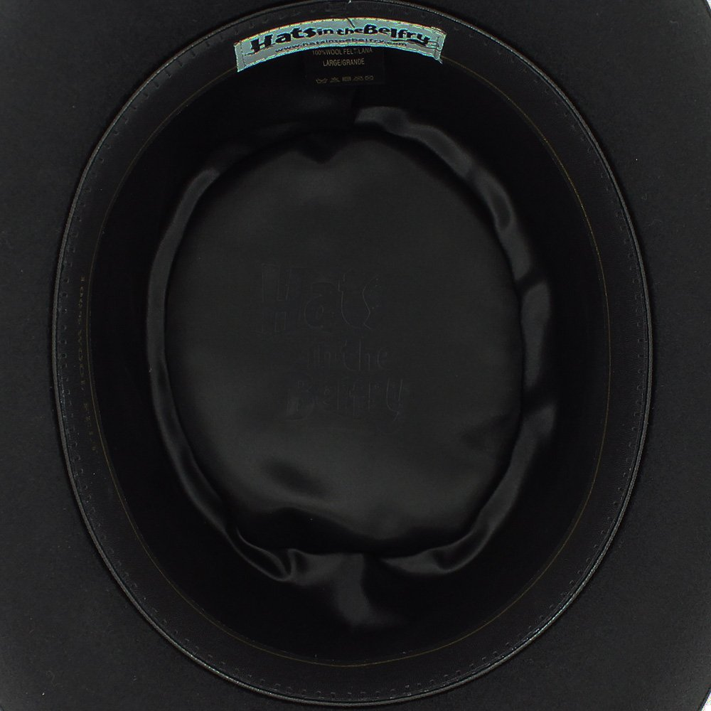 Belfry Topper 100% Wool Satin Lined Men's Top Hat in Black Available in 4 Sizes 4