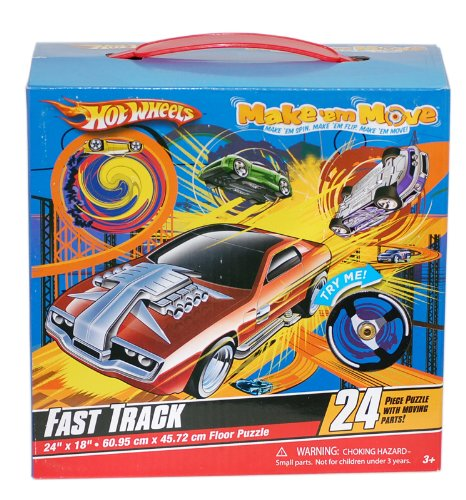 Cheap Great American Hot Wheels Make 'Em Move FAST TRACK Floor Puzzle (B004CU67WY)
