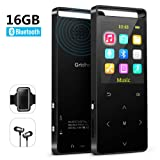 Grtdhx MP3 Player,MP3 Player with Bluetooth,16GB Music Player with FM Radio/Voice Recorder,HiFi Lossless Sound Quality,Metal, Alarm Clock, Touch Button, HD Sound Quality Earphone, with an Armband (Color: 1 16GBluetooth)