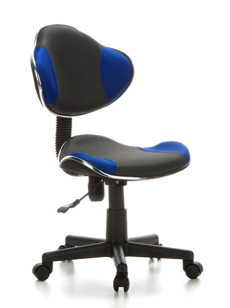 rezension hjh office 633000 kinder b rostuhl drehstuhl kiddy gti 2 grau blau kinder drehstuhl. Black Bedroom Furniture Sets. Home Design Ideas
