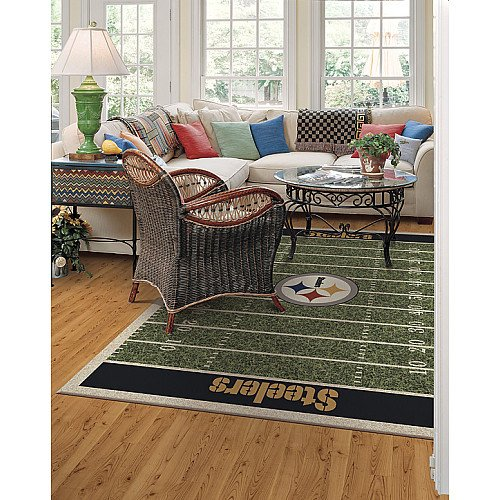 Milliken & Company Pittsburgh Steelers 3-Ft. 10-In. x 5-Ft. 4-In. Homefield Area Rug
