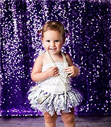 TRLYC 5Ft*9Ft Purple Sequin Fabric Backdrop