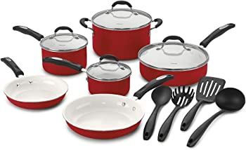 Cuisinart 57-14CR Ceramic 14-Pc. Cookware Set