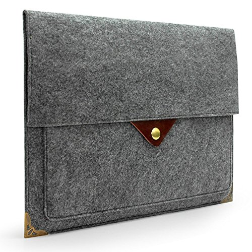 Lavievert Latest Designed Gray Felt Case Bag Sleeve Protector