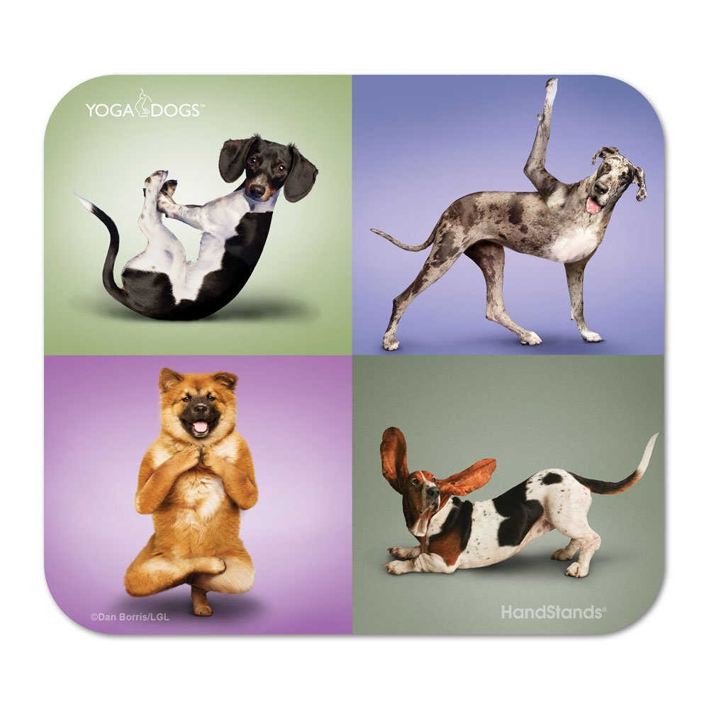 yoga dogs mouse pad