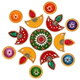 Ghasitaram Gifts Decorative Acrylic Rangoli R-801 with Diyas