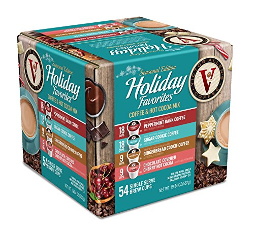 Victor Allen Coffee Holiday Favorites Coffee & Hot Cocoa Mix Single Serve K-cup, 54 Count (Compatible with 2.0 Keurig Brewers) (Gingerbread Coffee K Cup compare prices)