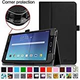 "Fintie Samsung Galaxy Tab E 8.0 Folio Case - Slim Fit Premium Vegan Leather Cover for Samsung Galaxy Tab E 8"" (Sprint / US Cellular / Verizon / AT&T) SM-T377 4G LTE 8-Inch Tablet, Black"
