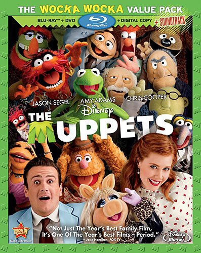 Cover art for  The Muppets (Three-Disc Blu-ray/DVD/Digital Copy + Soundtrack Download Card)