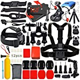 Erligpowht Accessories Kit for GoPro Camera go pro Hero 4 Sessions Hero 3 SJ4000 SJ5000 Outdoor Sports Accessory Pack