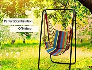 Outdoor garden swings for children patio baby for Baby garden swing amazon