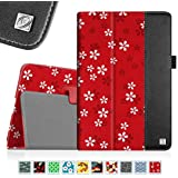 Fintie iPad mini 4 Case - Premium PU Leather Folio Case with Smart Cover Auto Sleep / Wake Feature for Apple iPad mini 4 Released on 2015, ZZ-Floral Red