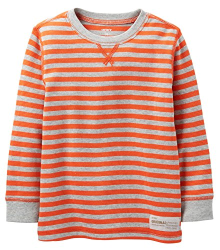 Carters Boys Toddler Stripe Thermal Shirt 4T Red front-1038223