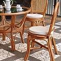 Rattan Stuhl mit Kissen von WEBMARKETPOINT - Gartenmöbel von Du und Dein Garten