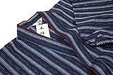 木綿紬-婦人用作務衣(さむえ)綿100% (M, 紺)