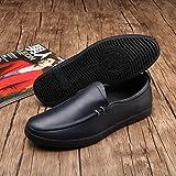 [XINXIKEJI]カジュアルシューズ メンズ 男 紳士 ウォーキングシューズ コンフォート革靴 ローファー・スリッポン 通勤通学 旅行出張 パンプス クラシック ローカット 蒸れにくい 疲れを和らげる 25.5cm ブラック
