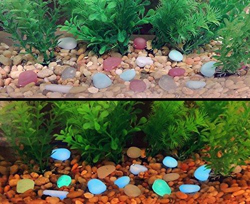 8oz Glow In The Dark Fish Tank Stones Multi Colored