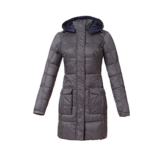 Tucano urbano 8888GR5 lAURA women's-respirant-ultra light and water repellent 3/4 length down jacket-gris-taille l