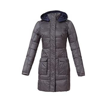 Tucano urbano 8888GR6 lAURA women's-respirant-ultra light and water repellent 3/4 length down jacket-gris-taille xL