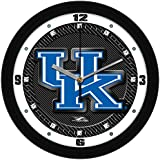 Kentucky Wildcats Logo on Carbon Fiber Graphic Background 12 Inch Wall Clock