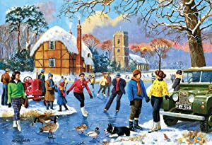 Gibsons Skating on The Lake Jigsaw Puzzle (500 Pieces)