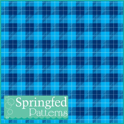 PLAID PATTERN #1 BLUE Craft Vinyl 3 Sheets 12x12 for Vinyl Cutters