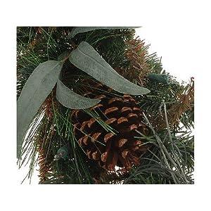 6' Pre-Lit Berries & Pinecones Fireside Christmas Garland - Clear Lights