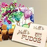 Birthday Balloons Fudge Gift Box, 2 Pounds Hall's Fudge (Chocolate)