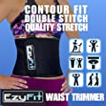 EzyFit Adjustable Waist Trimmer Belt - Stomach Body Wrap & Back Lumbar Support -Trim Curves, Strengthen Tummy Abs, Improve Posture, Belly Fat Burning 8 Inch Wide Belt, Money Back Guarantee