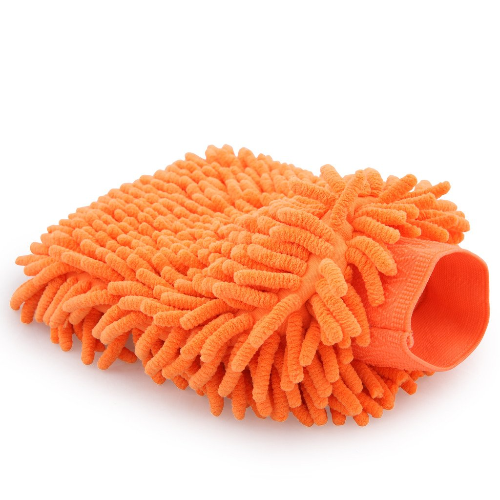 Microfiber Chenille Dust Wash Mitt Thick and Super Absorbent Universal Fit for Most Hands Use Wet or Dry philips brl130 satinshave advanced wet and dry electric shaver