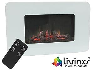 Livinxs® Wandkamin Eleganca 1000W / 2000W Heizleistung, Flammeneffekt und Ton schaltbar  BaumarktKundenberichte und weitere Informationen