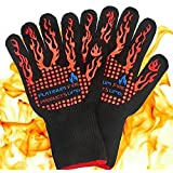Platinum UMD® 932F Oven and BBQ Mitts Cut Heat Resistant Gloves,Chef Supplies Accessories,100% Cotton Lining, Stripes for Ultimate Grip, Perfect for Kitchen, Baking, Grilling, Barbecue EN407 Certified