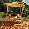 Holz Hollywoodschaukel Gartenschaukel Schaukel Bank inkl. Dach - Beige von Melko auf Gartenmöbel von Du und Dein Garten