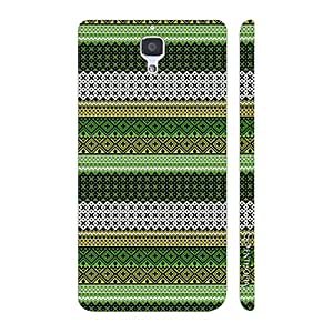 Enthopia Designer Hardshell Case Line it Green Back Cover for Xiaomi MI4