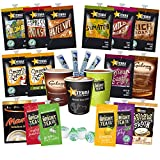 Top Up Box / Starter Pack for Flavia Coffee Machine. Flavia Selection of Alterra Coffee, Bright Tea Company Teas and Galaxy Chocolate. Includes 9oz Paper Cups, Sugar Sticks and Stirrers