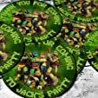 Teenage Mutant Ninja Turtles 24x4.5cm PRE-CUT Party Bag Sticker Labels Personalised with HIGH RESOLUTION IMAGE
