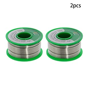 Utoolmart Lead Free Solder Wire 1mm Dia 100g Soldering Tin Wire Silver for Electrical Soldering and DIYs 2pcs (Color: 2pcs, Tamaño: 1mm)
