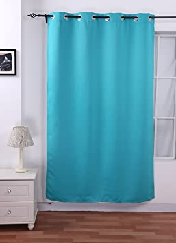 Deconovo® Solid 52-inch x 95-inch Thermal Blackout Grommet Curtain Panel For Bedroom,Turquoise