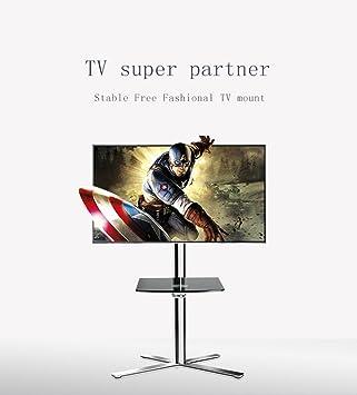 """Mobile TV pavimento carrello per TV LCD LED plasma Schermi Piatti Stand con Ruote mobile Fit per 32""""- 65"""", Max 66 lbs capacità di carico"""