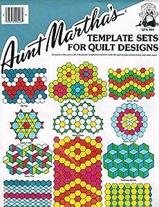 Aunt Martha's Quilting Template Set - Hexagon Set
