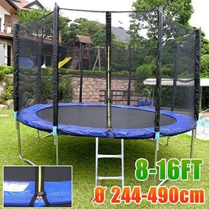 Yahee365 430cm 14 ft Trampolin Gartentrampolin mit Sicherheitsnetz Komplettset Zubehör