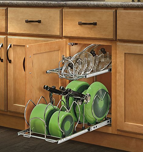 Rev-A-Shelf - 5CW2-1222-CR - 12 in. Pull-Out 2-Tier Base Cabinet Cookware Organizer (Shelf For Pots And Pans compare prices)