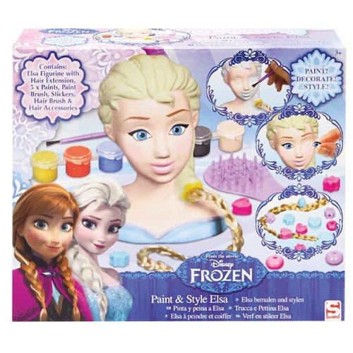 Sambro - Disney La Reine des Neiges - Paint & Style Elsa - Petite Tête à Peindre et à Coiffer